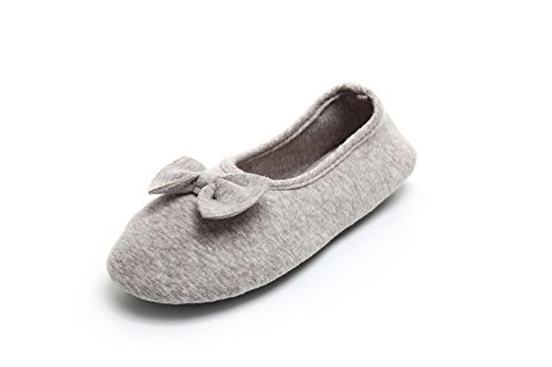 Knitted Memory Comfortable Ballerina Indoor Women Washable Grey Foam House Shoes Slippers SauiHomly HwIqYxS5