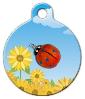 Dog Tag Art Custom Pet ID Tag for Dogs – Lady Bug – Large – 1.25 inch, My Pet Supplies