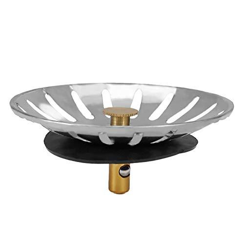 RoadRoma Fregaderos de Cocina Tapones Fregadero de Acero Inoxidable Tapa Plato Escurridor Chock Plug-Steel Color