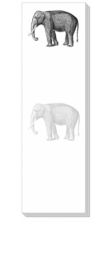 Ars Antigua Slim Writing Blocs (Notepads) - Vintage Elephant • Engraving 1875• Two Blocs of 50 Sheets Each - Total of 100 Printed Sheets