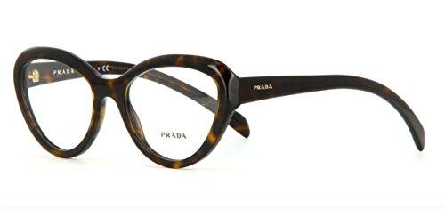 Prada Montures de lunettes 25R Pour Femme Black, 52mm 2AU-1O1: Tortoise