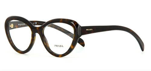 Prada Eyeglasses PR25RV 2AU1O1 Havana 52 18 - Women Prada Glasses