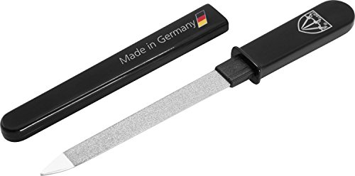 3 Swords Germany - brand quality double sided (fine & coarse) SAPPHIRE POCKET NAIL FILE manicure pedicure grooming for professional finger & toe nail care by 3 Swords, Made in Solingen Germany (82501) from 3 Swords Germany