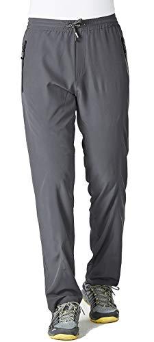 TBMPOY Men's Ultra Light Athletic Travel Pants Open Bottom Sports Exercise Pants(Dark Grey,US XL)