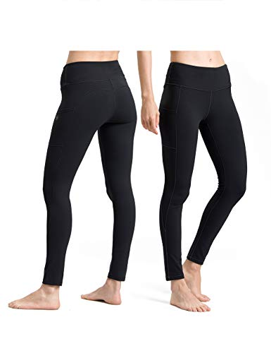 ALONG FIT Yoga Pants for Women with Phone Pockets, Compression Workout Leggings Tummy Control Yoga Shorts Capris
