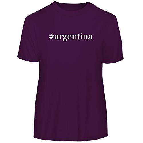 #Argentina - Hashtag Men's Funny Soft Adult Tee T-Shirt, Purple, Medium