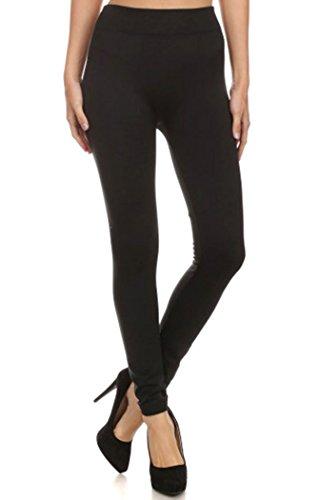 D Diana Dickson Womens Stretchy Seamless Long Ankle Length Legging Pants,Black
