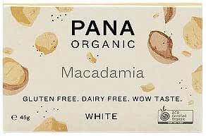 Pana Chocolate White Chocolate Macadamia 45g