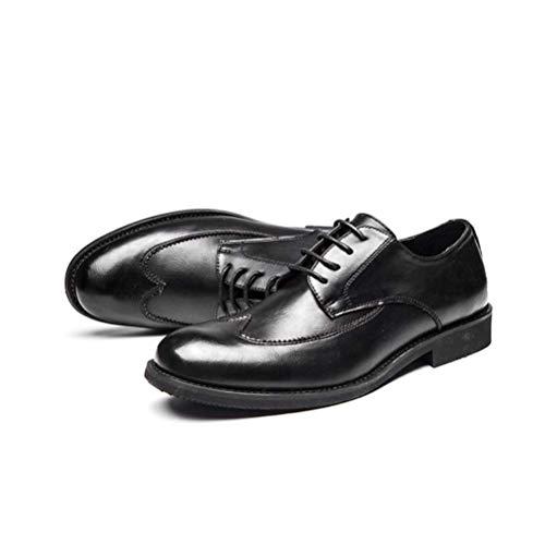 Ocio Negocios LYZGF Primavera Verano Y Zapatos Cuero Black Decir De Es Moda Juventud Encaje cqYUY0T