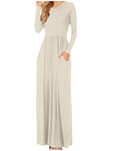 Loose Solido Coolred Vestito 9 Da Partito Lunga Manica Vita Dell'impero donne Fit FqRqfA