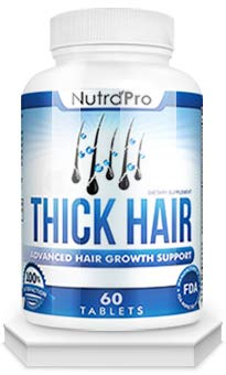 Thinning Hair Supplement - Thick Hair Growth Vitamins - Anti Hair Loss DHT Blocker Stimulates Fast Hair Growth for Weak, Thinning Hair - Biotin Hair Supplement with Keratin Helps Men & Women Grow Perfect Hair, Made in The U.S.