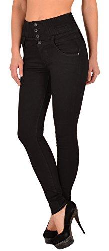 by-tex Jean femme skinny Jeans taille haute pantalon en jean femme J22 J292-noir