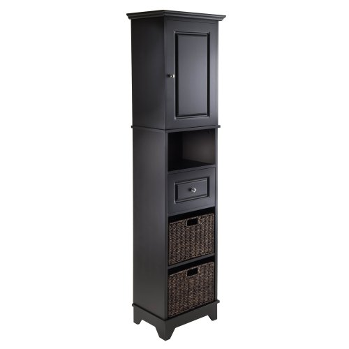 - Winsome Wood 20618 Wyatt Storage/Organization, Black