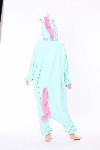 Tuta Pigiama Animali Cosplay Unicorno Adulti Costume Uomo Kigurumi Donna Blu PqP8UxZO