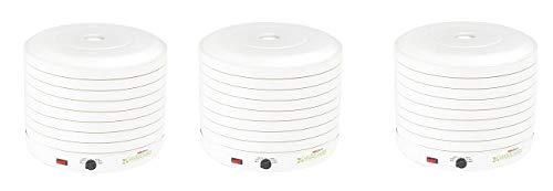NESCO FD-1018A, Gardenmaster Food Dehydrator, White, 1000 watts (3-(Pack))