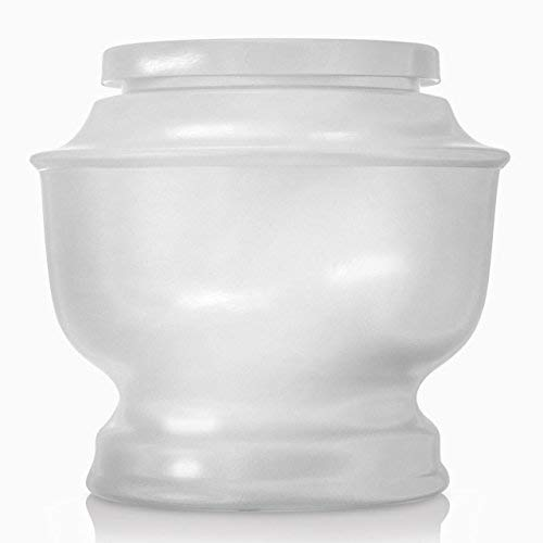(SmartChoice Classic Funeral Cremation Urn for Human Ashes a Variety of Colors Available Adult Urn with Velvet Bag (White))
