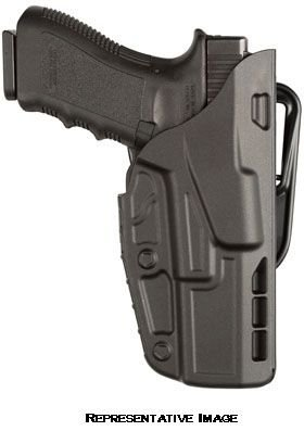 [Safariland 7377 7TS ALS Belt Slide Concealment Holster, Glock 17, 22, Plain Black, Right Hand,] (Concealment Belt Slide Holster)