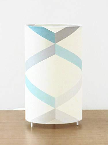 lampe tube motif géométrique scandinave bleu gris Luminaire ...
