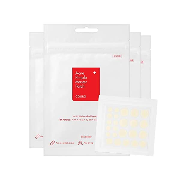 COSRX Acne Pimple Master Patch 96 Patches (4 Packs of 24 Patches) | A.D.F. Hydrocolloid Dressing