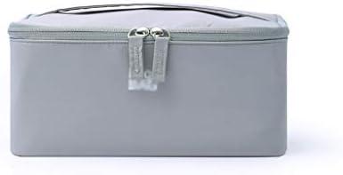 化粧品収納ボックス ポータブル化粧品収納ボックス大容量収納ボックスナイロン生地防塵防水グレー QTKGG