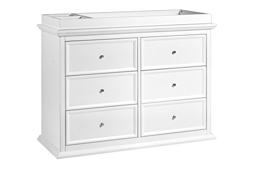 Million Dollar Baby Classic Foothill/Louis 6-Drawer Dresser, White