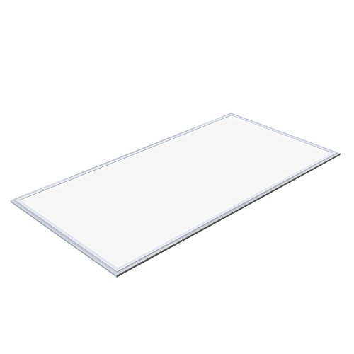 Allsmartlife 60W LED 2x4 FT Panel Light, 0-10V Dimmable Drop Ceiling Flat Panel, 6215Lumens, 4000K(Bright White) DLC-Qualified Ultra Slim Surface Mount LED Ceiling Troffer Light Fixture 1-Pack ()