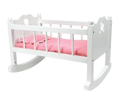 White Baby Doll Cradle Furniture By Sophiau0027s, Open Sides U0026 Heart Cutout  Design Plus Doll