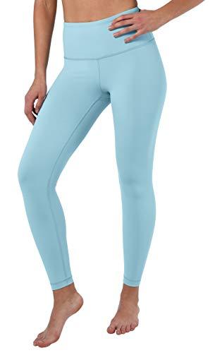 90 Degree By Reflex High Waist Squat Proof Ankle Length Interlink Leggings - Skyland - Medium
