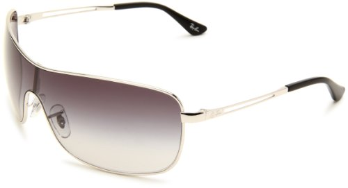 ray ban 3466 sunglasses  amazon: ray ban rb3466 silver frame gray gradient lenses 35mm non polarized: ray ban: clothing