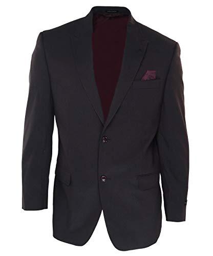 (Sean John Wine Mens Short Two Button Stretch Blazer Purple)