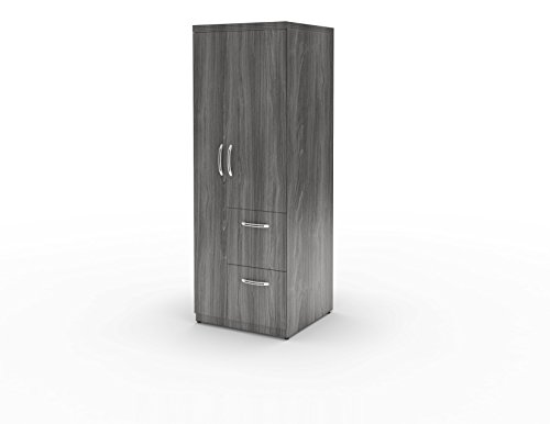Mayline APSTLGS Aberdeen Personal Storage Tower with 2 Doors and 2 Drawers, Gray Steel Tf - Mayline Wardrobe Cabinet