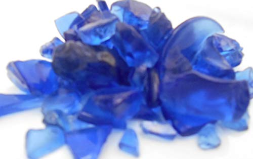 1 Lb (2 Cups) Cobalt Blue Colored Decor Glass Pieces for Beach Crafts, Mosaic, Vase Filling and Table Scatter