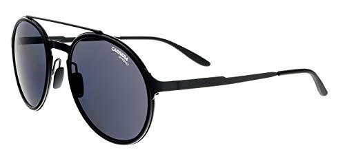 Carrera Metal Rectangular Sunglasses 53 0003 Matte Black IR gray blue lens