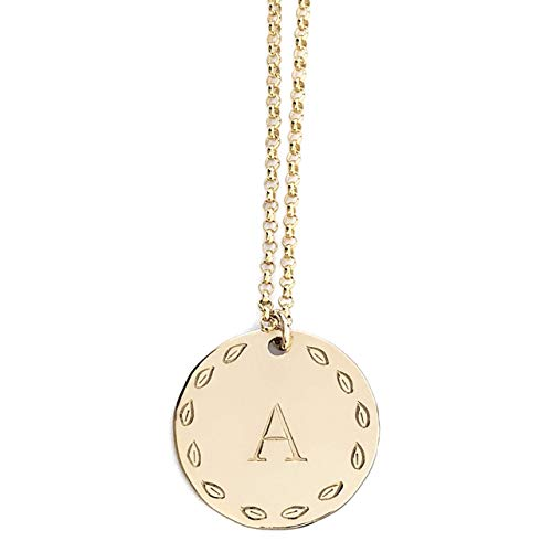 Personalized Initial Necklace in Gold, Silver, and Rose Gold - Custom Made