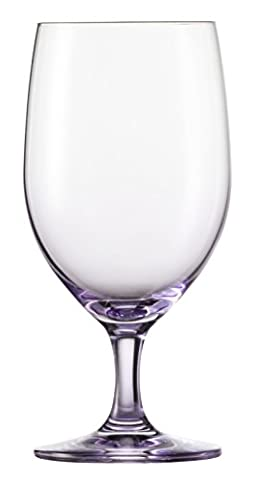Schott Zwiesel Tritan Crystal Glass Forte Touch Barware Collection Water Glass Goblets, Set of 6, 15.3 oz, Purple