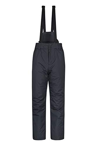 Mountain Warehouse Pantalon de Ski Hommes Dusk – Deux Poches, Guêtres Pare-Neige, Taille Élastique, Déperlant – Idéal pour Ski et Snowboard