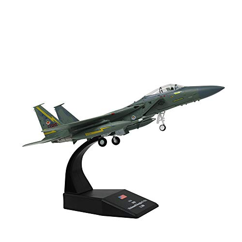 (1/100 Scale USA F-15A Eagle Fighter Attack Plane Metal Fighter Military Model Fairchild Republic Diecast Plane Model for Commemorate Collection or Gift)