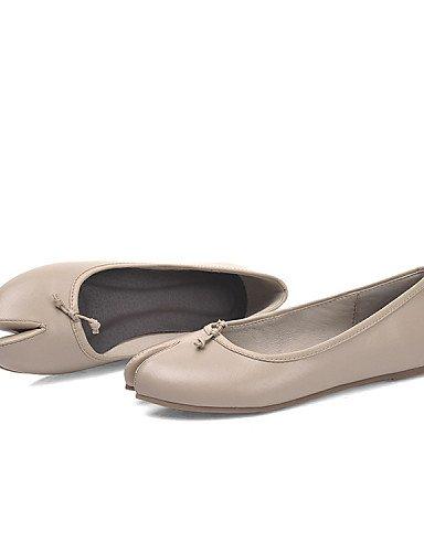PDX/ Damenschuhe - Ballerinas - Outddor / Lässig - Leder - Flacher Absatz - Mokassin - Mandelfarben , almond-us6.5-7 / eu37 / uk4.5-5 / cn37 , almond-us6.5-7 / eu37 / uk4.5-5 / cn37