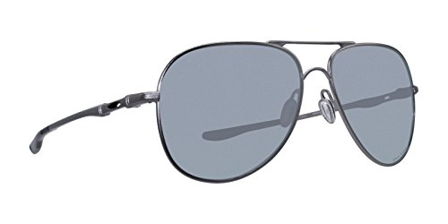 Oakley Metal Unisex Sunglass Polarized Aviator, LEAD, 60 mm (Oakley Crosshair)