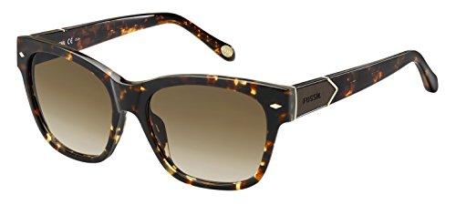 Fossil Fos2040s Wayfarer Sunglasses, Havana/Brown, 55 - Sunglasses For Women Fossil
