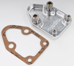 CSR Performance Products 660C Clear Fuel Pump Block-Off Plate for Small Block Chevy by CSR Performance Products