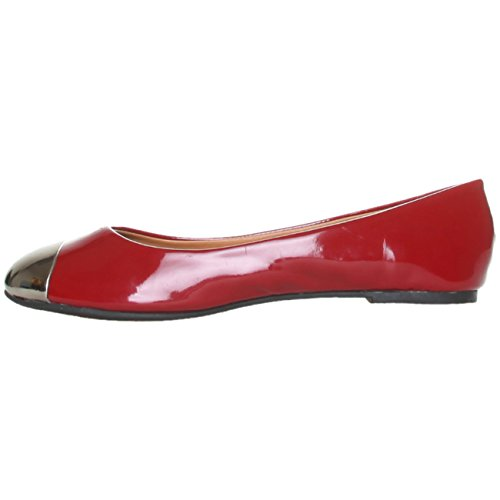 ANA Lublin Ballerina shoe materials, Size 38-New Synthetic YM12A VERNICEBORDEAUX Burgundy
