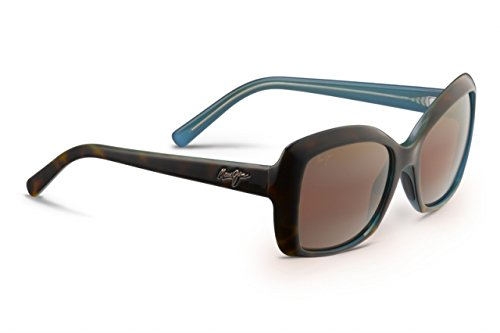 Maui Jim Orchid Polarized Sunglasses - Women's Tortoise with Peacock / HCL Bronze One - Faces Sunglasses For Maui Round Best Jim