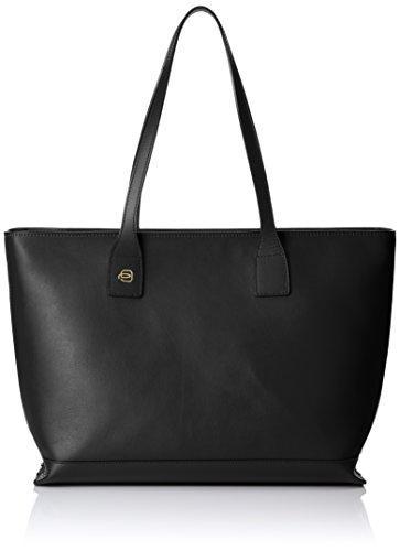 Piquadro Shopping Bag Collezione Antilias Borsa A Spalla Pelle Nero 36 Cm