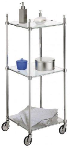 WENKO Badwagen LUCCA - con ruedas - para cuarto de baño - estantería - carrito para el baño: Amazon.es: Hogar