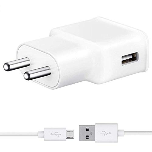 Fast Charger for with All Vivo Mobile Fast Charger Y21L Y51L V7 Y6 VIVO V11 PRO V11 PRO Vivo V5 All andriod Smart Mobile Phones Charger with 1 Meter Micro USB Data Charging Cable (2.4 Amp White)