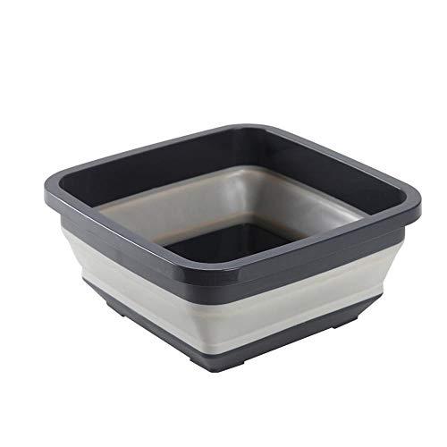 KOBWA Collapsible Dish Tub,Portable Foldable Washing Basin,Space Saving Kitchen Storage Tray,Plastic Washtub for Kitchen Camping from KOBWA