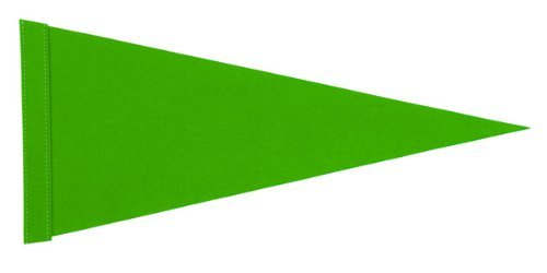 6 ft. Neon Green Pennant Bicycle Safety Flag with Rear Axle Mounting Bracket (Bike Flag)