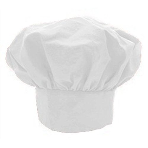 [Kitchen Supply Child's Adjustable White Twill Chef's Hat] (Chef Costumes For Kids)
