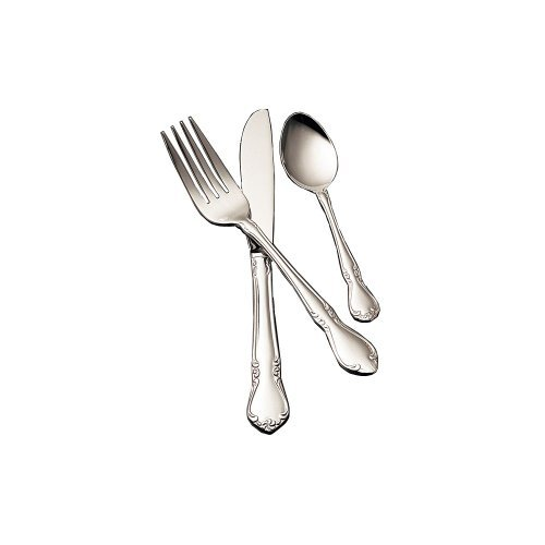 (Bon Chef S1808 Stainless Steel 18/8 Queen Anne Oyster/Cocktail Fork, 5-45/64